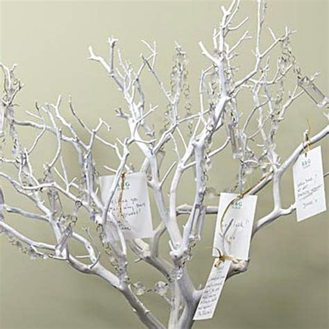 Decoration Tree Branches by Painted White Manzanita Branch Decorative Branches
