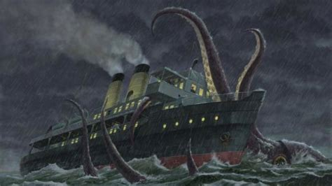 giant squid attacks fishing boat if giant squid monsters ever attack we can defend