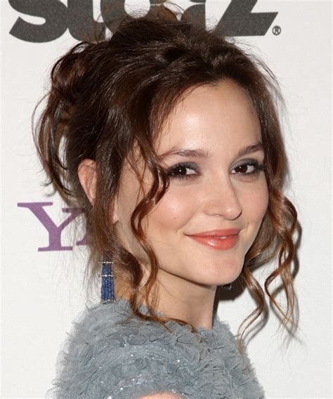 Leighton Meester Hairstyles by Leighton Meester Updo Curly Casual Updo Hairstyle
