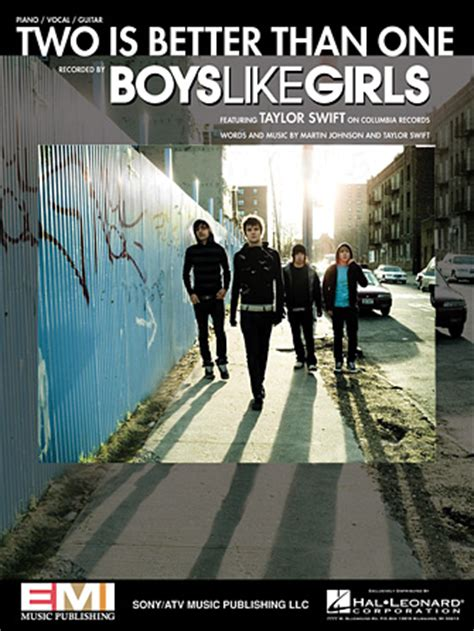 boys like girls two is better than one two is better than one sheet music direct