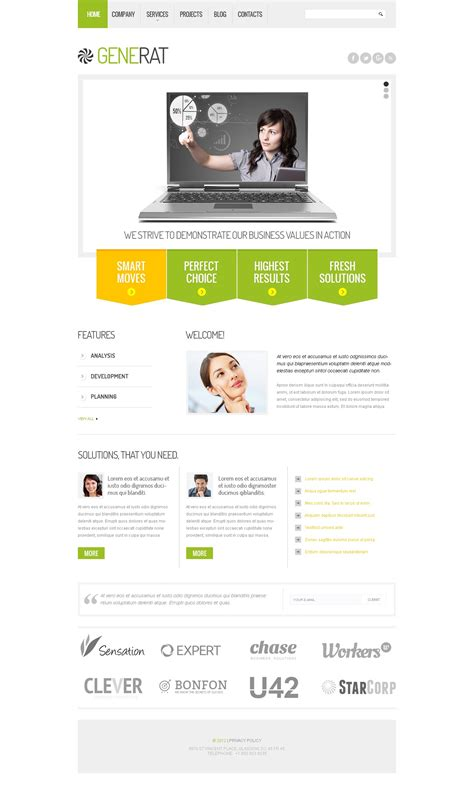 responsive website templates for quiz business responsive website template 39975