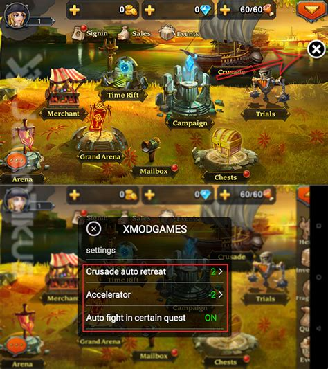 cara mod game heroes charge cheat heroes charge di android dengan xmodgames clash id