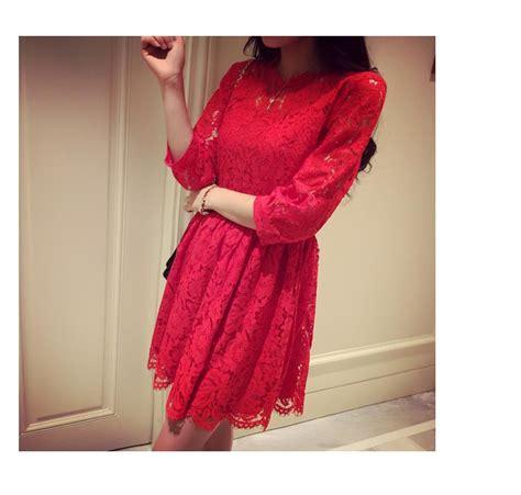 Murah Lingeri Import Dress Lace Ter dress merah cantik termodis 2015 model terbaru jual