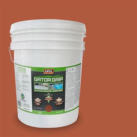 Gator Grip Bath Mat Anvil 5 Gal Terra Cotta Anti Skid Coating And Bonding Primer 920805 The Home Depot