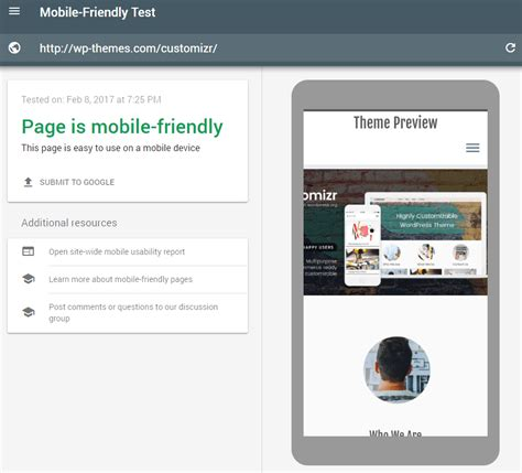 theme google mobile customizr wordpress theme press customizr
