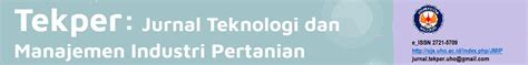 tekper jurnal teknologi  manajemen industri pertanian