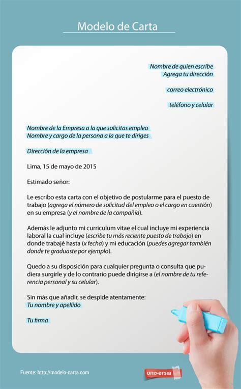 nuevos modelos de carta para solicitar trabajo en empresa c 243 mo redactar una carta de solicitud de empleo pinteres