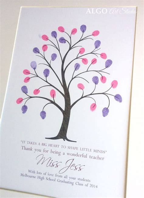 new year fingerprint tree gifts for teachers end of year gift gift