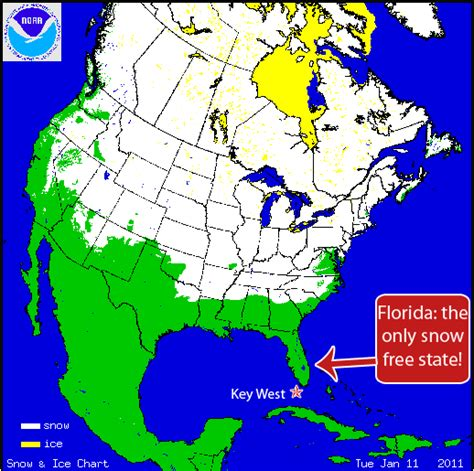 united states snow cover map key west chronicle key west florida is only snow
