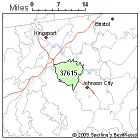 zip code map johnson city tn best place to live in johnson city zip 37615 tennessee