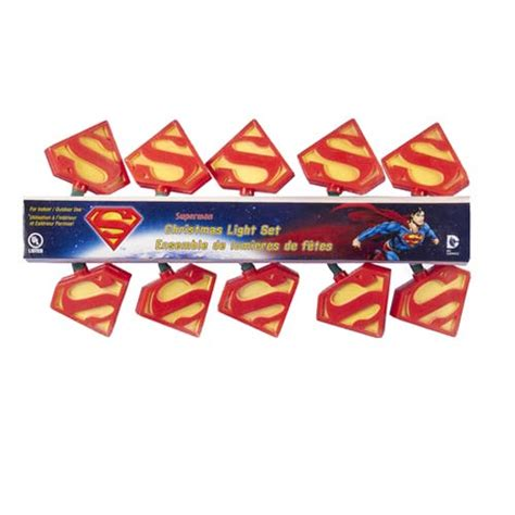 superman s logo christmas lights kurt s adler