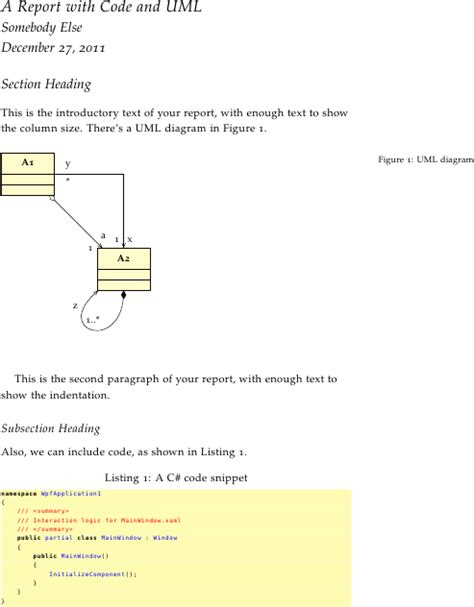 latex tutorial for project report document classes latex class package template for