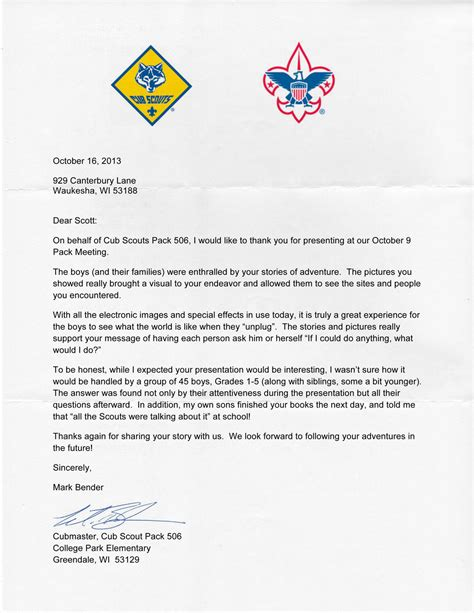 Fundraising Letter For Boy Scouts Testimonials