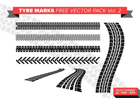 tire marks  vector pack vol    vectors clipart graphics vector art
