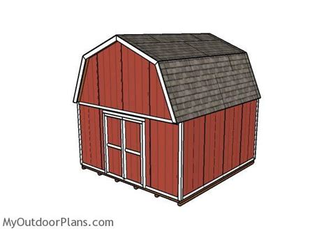 16x16 gambrel shed plans myoutdoorplans free woodworking plans and projects diy shed