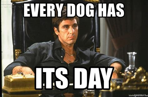 every has its day every has its day scarface meme generator