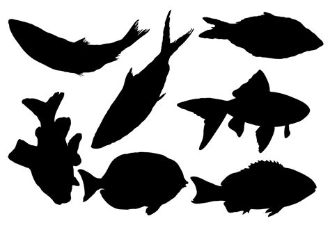 silhouette vector free fish silhouette vector download free vector art