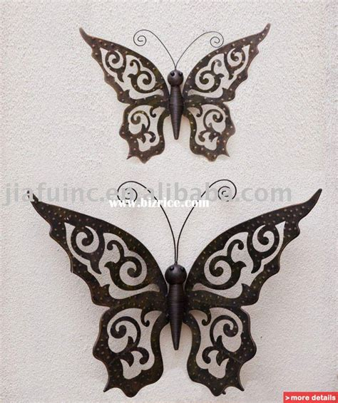 butterflies home decor metal decorations for walls 2017 grasscloth wallpaper