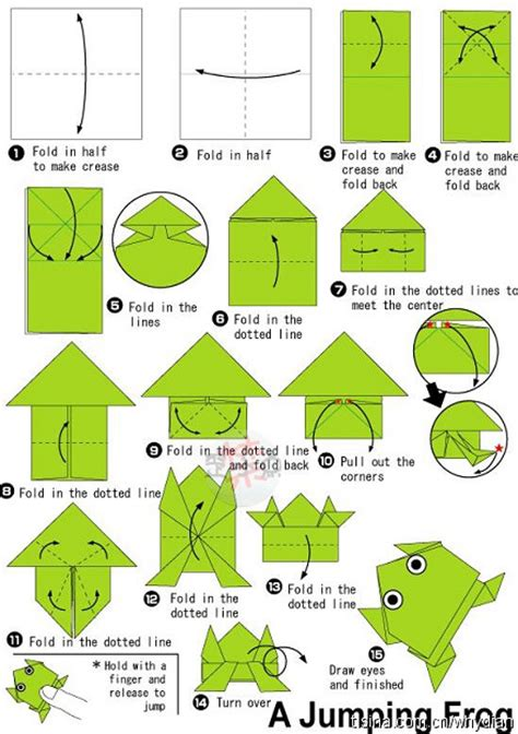 printable origami frog instructions pdf 怎么样折青蛙 百度知道