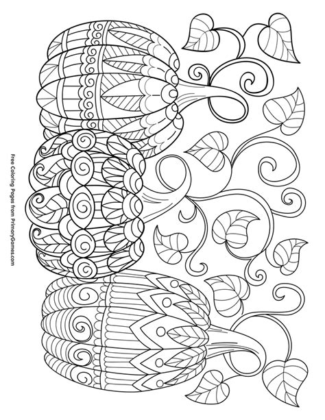 pumpkin coloring page for adults halloween coloring pages ebook three pumpkins halloween