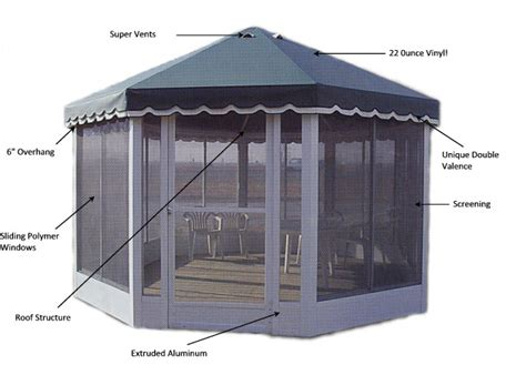 gazebo screen house octagonal screen rooms garden gazebo kits gazebos