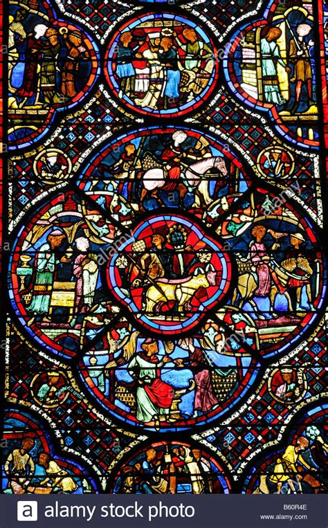 colorful glasses colourful stained glass window church window depiction