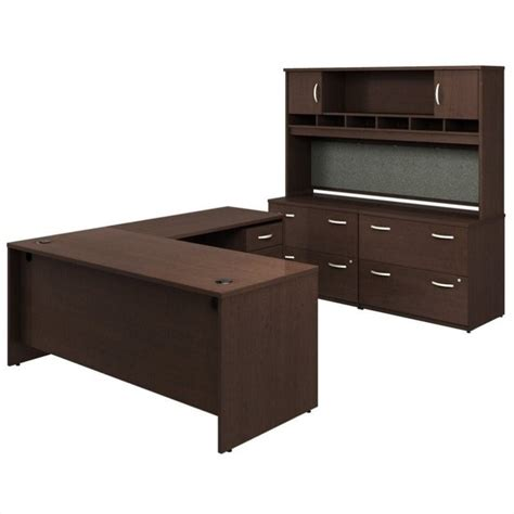 Bush Bennington L Shaped Desk Bush Business Series C 6 L Shape Desk Set In Mocha Cherry Bsc044 129