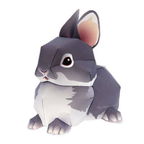 Papercraft Rabbit - rabbit papercraft quot netherland quot paperkraft net