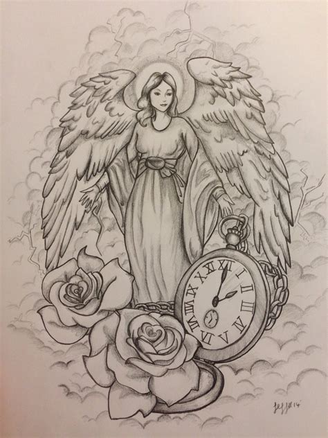 guardian angel tattoos angel tattoo designs pinterest guardian angel tattoo design commission by jeffica alice