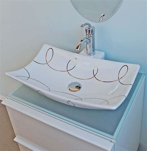 painted bathroom sinks light blue spa style bathroom the decorated bathroom