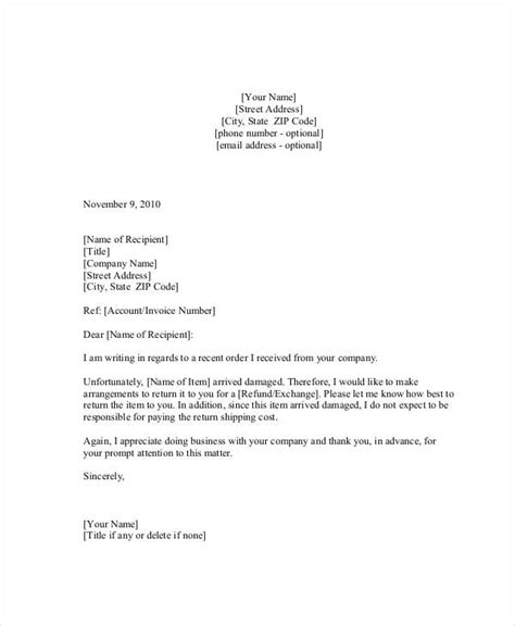Withdrawal Letter From Sacco complaint letter for damaged goods 28 images sle