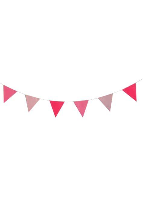 Tas Ultah Banner Transparant Murah flag garland pink