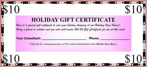 gift certificate template open office open house ideas to be redeemed at our