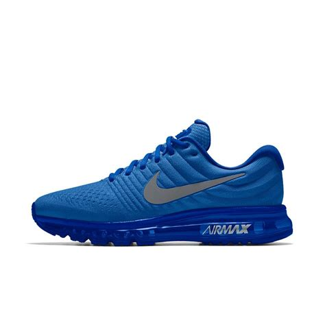 nike max air running shoes nike air max 2017 id s running shoe in blue for