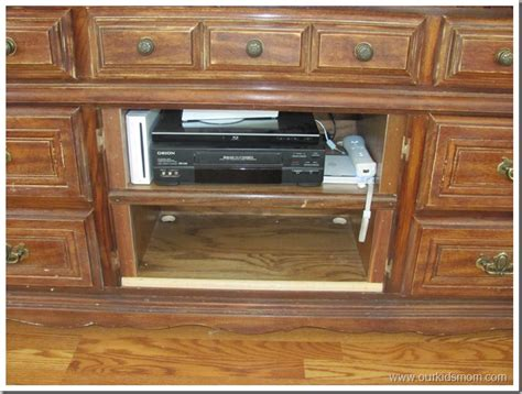 Convert A Dresser Into A Tv Stand by Diy Repurposing A Dresser Into A Television Stand