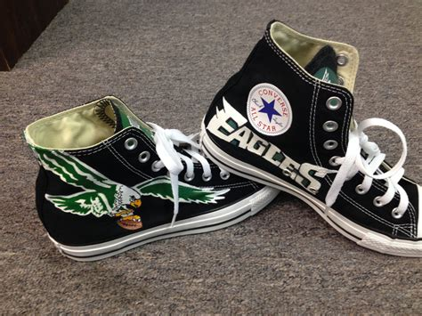 Canvas Without Frame philadelphia eagles shoes hand painted