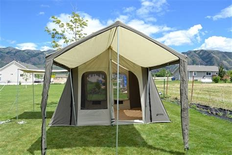 Kodiak Canvas Cabin Tent With Awning by Kodiak Canvas Tent 6133 6 Person 9 X 12 Ft With Deluxe