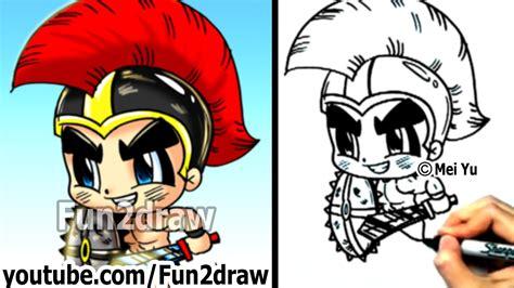 Fun2draw How To Draw Cartoon People | how to draw cartoon people gladiator warrior fun