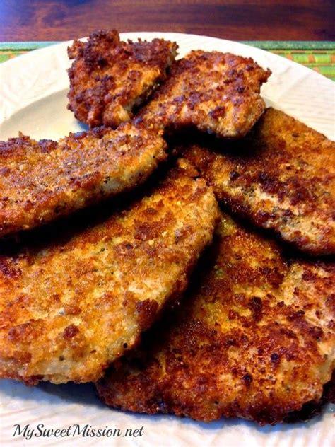 crispy pan fried pork chops