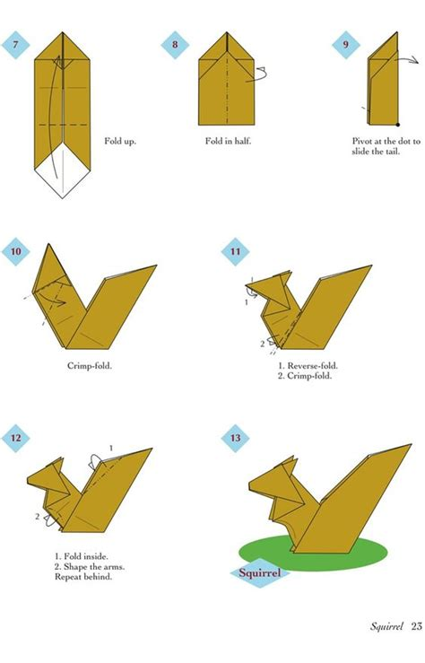 Easy Origami Animals For - easy origami animals page 4 of 6 squirrel 2 of 2