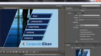 encore cs6 menu templates adobe encore basics 2 creating menus