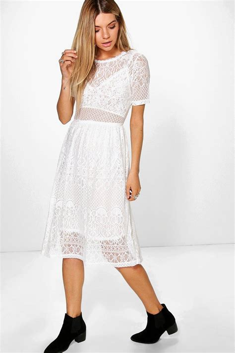 Lenka Dress 6 boohoo womens lenka lace midi dress ebay