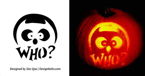5 free scary halloween pumpkin carving stencils designs