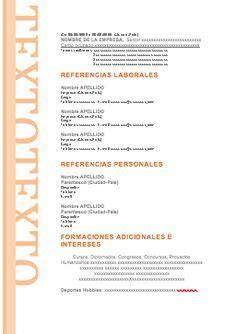 Modelo De Curriculum Vitae Y Sus Partes formato de hoja de vida 12 partes fisicas