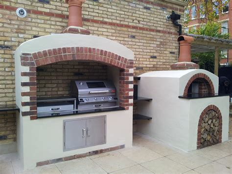 garden kitchen authentic wood fired pizza oven builds in surrey oven