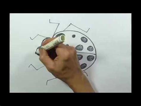 youtube tutorial menggambar hewan menggambar kumbang kepik belajar cara menggambar