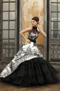 Eli shay wedding dress collections 2012 dove white black dress