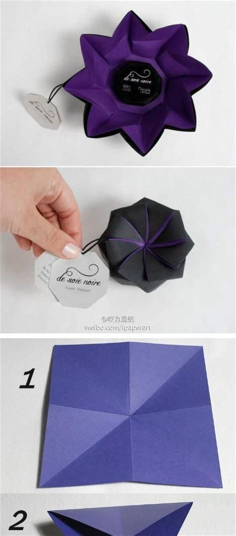 Box Flower Origami - diy tutorial diy arts crafts diy origami flower box
