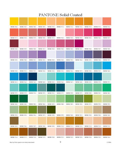 color coated pantone coated color chart related keywords pantone