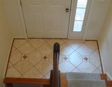 Small Foyer Tile Ideas Edge Tile Porcelain Tile Foyer